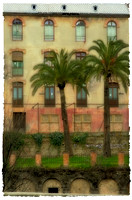 ALHAMBRA PALMS -  available for purchase on fine art German Etching paper