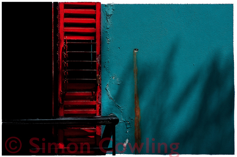 RED SLATS -  available for purchase on fine art German Etching paper